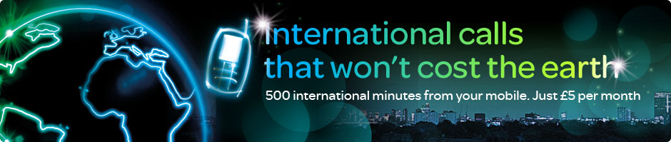 500 minutes to call landlines and mobiles over 100 international destinations